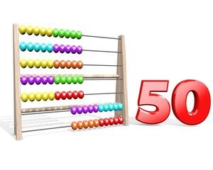 Vijftig jaar oud - tellen op een telraam