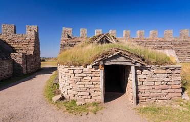 Old hut in Eketorp castle