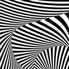 Design monochrome convex movement illusion background