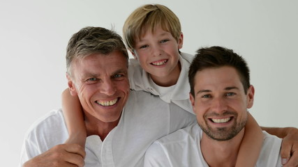 Three male generations