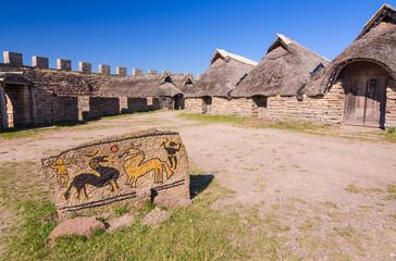 Iron Age symbols in Eketorp castle