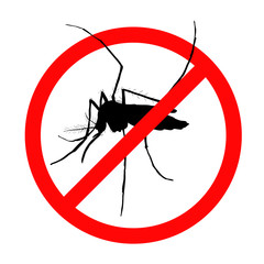 Prohibition sign for mosquitos on