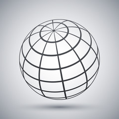 Vector global communications icon