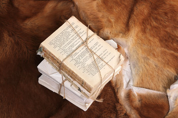 Vintage book on fur