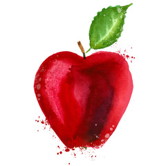 Red apple logo design template. food or fruit icon.