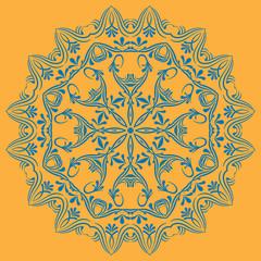 Circular pattern in mandala style. Set