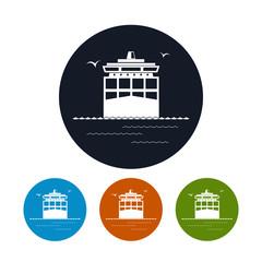 Icon cargo container ship ,  vector illustration