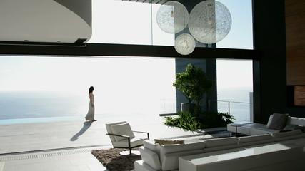Woman in luxury house