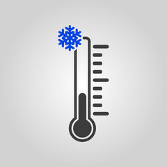 The thermometer icon. Low temperature symbol