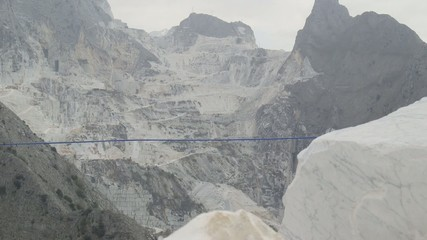 View of marble quarry in Carrara