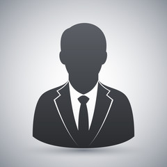 Vector user icon of man in business suit