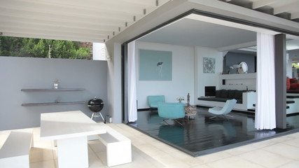 Luxury living room and terrace