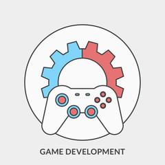 Flat design concept for Game Development