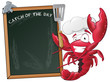 Cute Lobster Chef with Sign Board. - 78636711