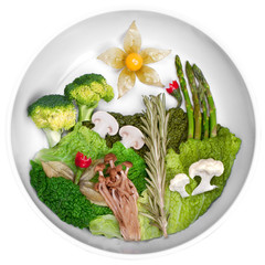 creative picture of food, landscape food