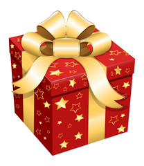 Gift Box - Christmas Vector Illustration