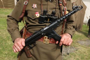 Soviet military decoration on the uniform