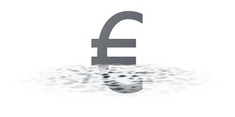 Euroteken onder water