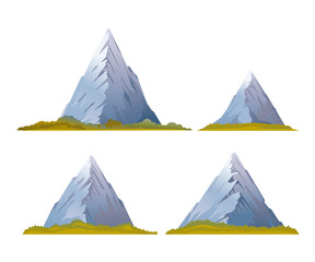Set of High Mountains