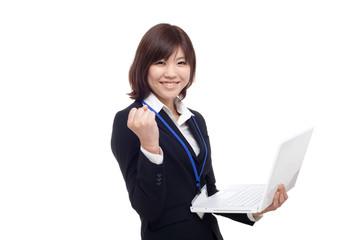 笑顔の女性スタッフ