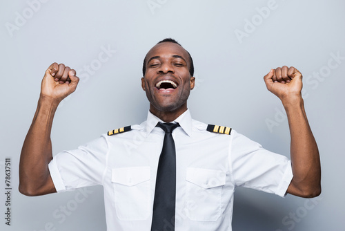 Leinwanddruck Bild Successful pilot.