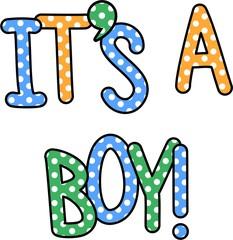 It's a Boy Celebration Text