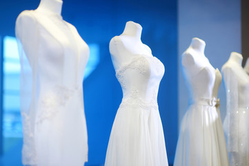 Wedding dresses on a mannequins