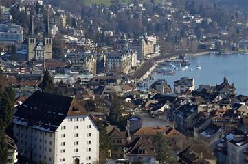 Luzerner Seebecken mit Altstadt