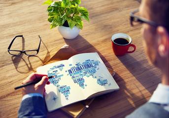 International World Networking Globalization Concept
