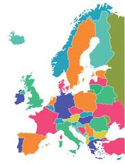 Europäische Landkarte