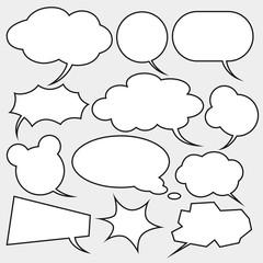 vector set of comics style speech bubbles