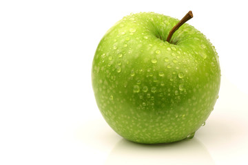 "fresh ""Granny Smith "" apple on a white background"