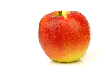 "fresh ""Junami"" apple on a white background"