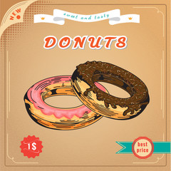 Poster. Cute donut.
