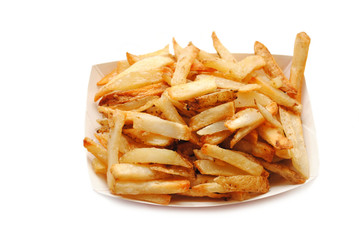 Crispy French Fries in a Take Out Container