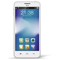Smartphone blanc seul