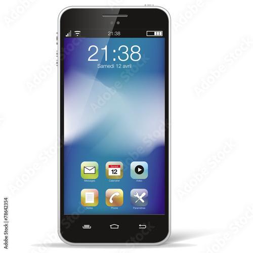Smartphone noir seul - 78642354