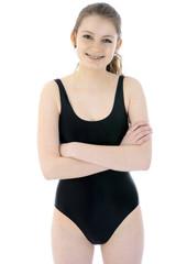 Teen in Swimsuit lächelt