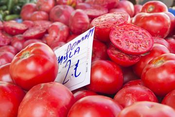 tomatoes on market