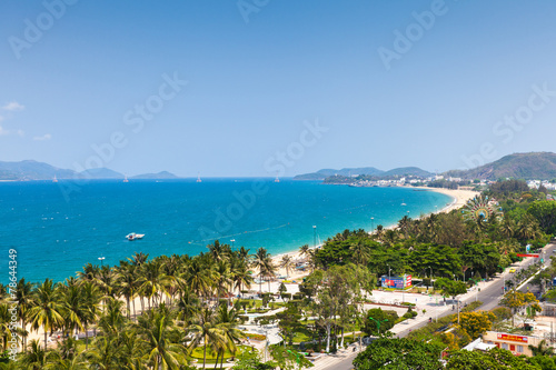 Foto op Canvas Overige Aerial view over Nha Trang city, Vietnam