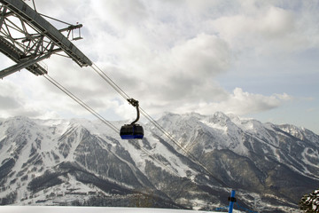 photo cableway in the mountains