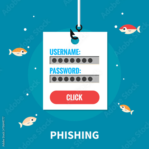Phishing, identity theft - isolated flat vector illustration. - 78644777