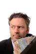 Geschäftsmann mit einem Geldkoffer