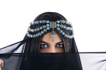 Arabian Girl wearing Traditional Headscarf