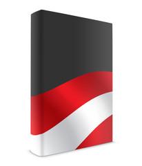 Austria book cover flag black