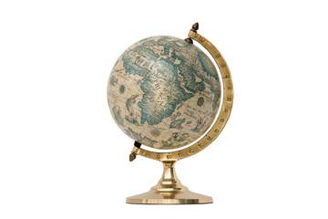 Old Style World Globe - Isolated on White