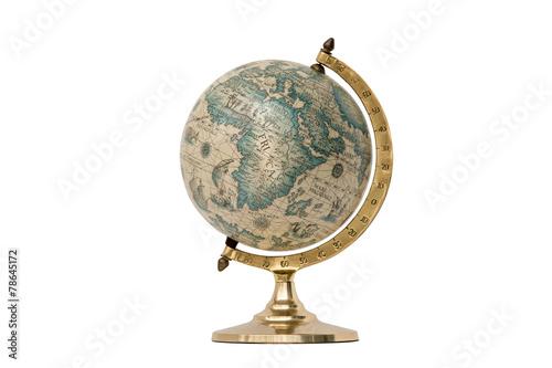 Plakat Old Style World Globe - Isolated on White