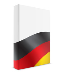 German book cover flag white
