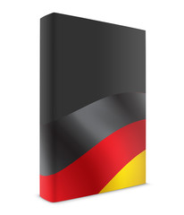 German book cover flag black