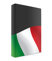 Italy book cover flag black
